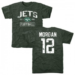 Youth James Morgan New York Jets Green Distressed Name & Number Tri-Blend T-Shirt