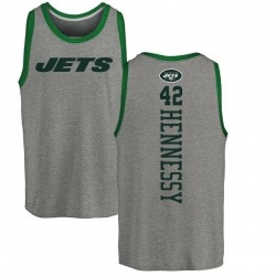 Youth Thomas Hennessy New York Jets Backer Tri-Blend Tank Top - Ash